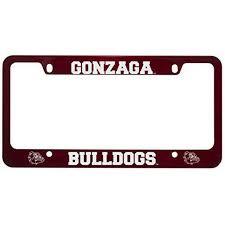 Gonzaga University Metal License Plate Frame Red