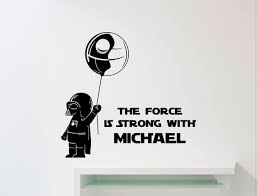 Personalized Star Wars Wall Decal Darth Vader The Force Is Etsy