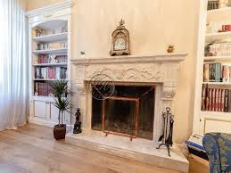 wall mounted natural stone fireplace
