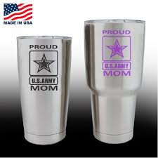 Yeti Decals Cup Stickers Proud Army Mom Custom Sticker Shop