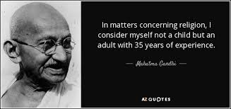 mahatma gandhi quote in matters concerning religion i consider