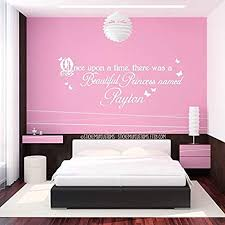 Amazon Com Wall Vinyl Decal Home Decor Art Sticker Custom Girls Name Princess Butterfly Storybook Theme Once Upon A Time There Was A Beautiful Princess Named Home Room Removable Mural Hds13380
