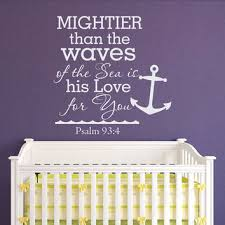 Psalm 93 4 Mightier Than The Waves Of The From Fabwalldecals On