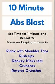 10 minute easy ab blast workout at home