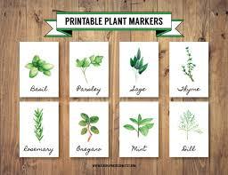 printable diy herb plant markers 8