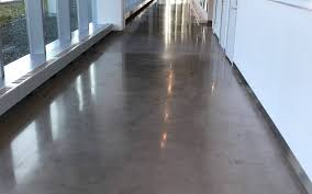 polished concrete floor at new balance