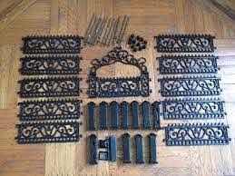 Heavy Dollhouse Wrought Iron Fence Gate Metal Garden Miniature Victorian Doll 1758977853