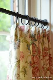 Floral Cafe Curtain for the Master Bath - Sonya Hamilton Designs