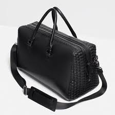 duffle bag with quilted edge from zara