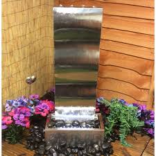 wave cascade solar water feature the