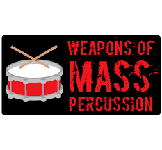 Mass Percussion Drummer Rectangle Decal