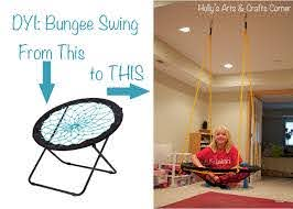 Holly S Arts And Crafts Corner Diy Project Basement Bungee Swing