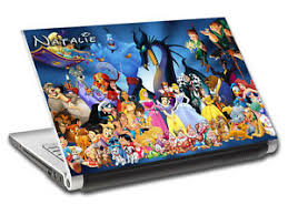 Disney Characters Personalized Laptop Skin Vinyl Decal Sticker With Name L64 Ebay