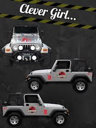 Jurassic Park Custom Jeep Safari Vinyl Decal Sticker Kit Personalize Jp Number