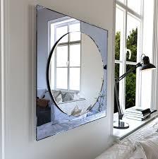 wall mirror unique round art deco