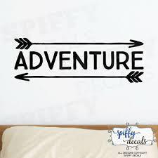 Adventure Awaits Arrow Vinyl Wall Decal Decor Design Sticker Lettering Quote Ebay