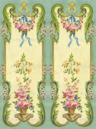 Furniture Decal Vintage Image Transfer 2 Panels Upcycle Shabby Chic Antique Diy Ebay