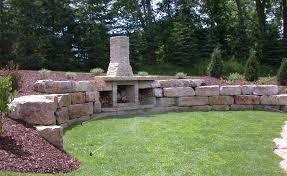 backyard stone fireplace cornerstone