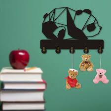 Panda Bear Coat Wall Hook Zoo Animal Key Holder Wall Hanger Kids Room Decor Gift Ebay
