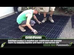 installation of plastic grid pavers