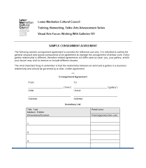 4 consignment agreement forms free