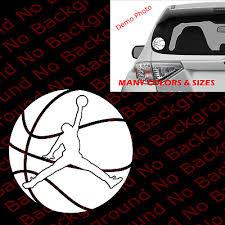 Jumpman Michael Jordan Car Window Vinyl Die Cut Decal Basketball Player Sp005 2 27 Picclick Uk