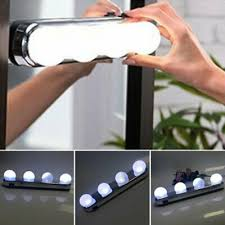 led makeup mirror light suction cup