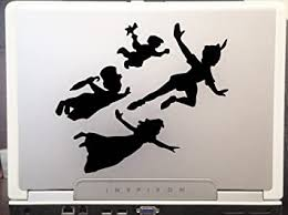 Amazon Com Peter Pan Kids Car Truck Vinyl Decal Art Wall Sticker Usa Classic Disney Movies 6 Inches Black Home Kitchen