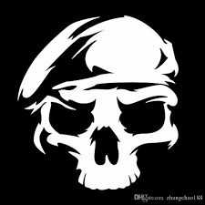 2020 13 5 12 6 Cm For Army Ranger Skull Sticker Car Window Decal Vinyl Car Sticker Black Silver Ca 1297 From Zhangchao188 0 34 Dhgate Com