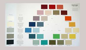 chalk paint color card by annie