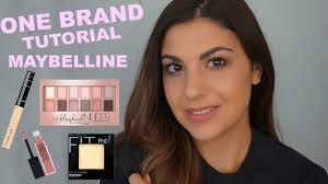one brand makeup tutorial maybelline