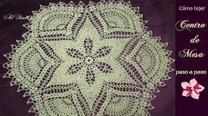 centro de mesa a crochet parte 2 2 final