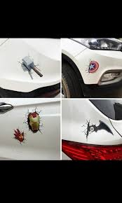 Car Decal Marvel 3d Preorder Car Accessories Accessories On Carousell