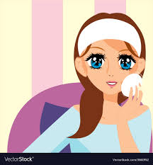 putting on makeup royalty free vector image