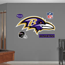 Shop Fathead Baltimore Ravens Logo Wall Decal Overstock 9252085