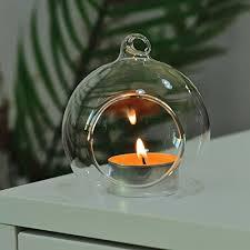3pcs terrarium clear glass ball candle