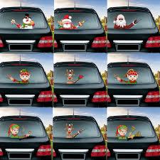 Christmas Santa Claus Snowman Elk Series Snowman For Car Waving Wiper Sticker Pvc Rear Window Windshield Car Stickers And Decals Car Stickers Aliexpress