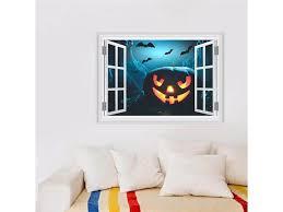 3d Horror Pumpkin Head Faux Window Stickers Happy Halloween Decoration Wall Sticker Decal Decor Newegg Com