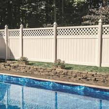 Freedom Ready To Assemble Conway 6 Ft H X 8 Ft W White Vinyl Lattice Top Fence Panel Lowes Inventory Checker Brickseek