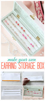 make an earring storage box for 5