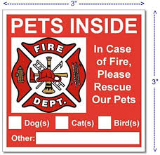 Amazon Com 6 Pets Inside Red Safety Alert Warning Window Door Stickers In Fire Or Emergency They Notify Rescue Personnel To Save Pet 3 X 3 Inches Home Improvement
