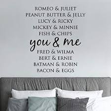 Amazon Com Wall Quotes Decal You And Me Love Marriage Home Family Wall Decal Love Quote Vinyl Wall Decal Home Decor Wall Art Home Kitchen
