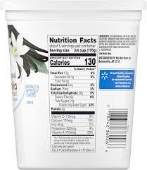 great value lowfat vanilla yogurt 32