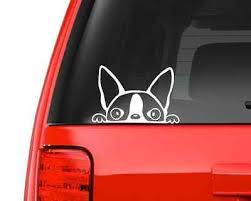 Peeking Boston Terrier A14 Vinyl Decal Sticker Car Truck Laptop Netbook Window Ebay