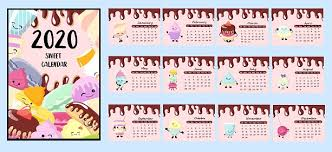 Calendar 2020 Children Desserts And Sweets Cute Characters Poster For The Kids Room Stock Illustration Download Image Now Istock