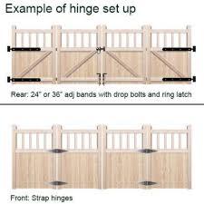 wooden bi fold gates flat top