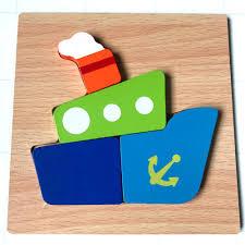 Đồ Chơi lắp ghép Gỗ Dành Cho Bé 2 Tuổi Trở Lên PuzzleToys - Xếp hình  thuyền, tàu thủy - rete0029-SHOP-0201