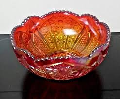 vtg indiana glass ruby red iridescent