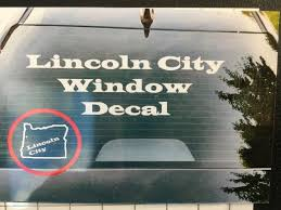 Sticker Lincoln City Window Decal Lincoln City Gifts