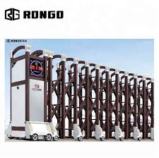 Rongo Aluminum Auto Extension Entrance Harmonica Fence Gate Buy Aluminum Harmonica Gate Extension Entrance Gate Auto Extension Gate Product On Alibaba Com
